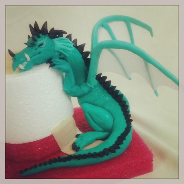 White Dragon Cake