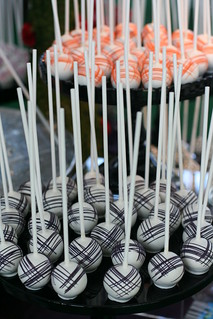 Black and Orange Fine Cross Cake Pops | by Sweet Lauren Cakes