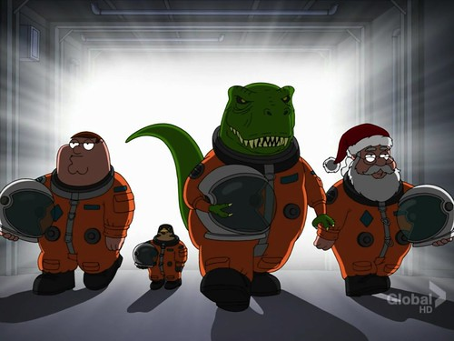 Family guy peter griffin and cerxes with santa and t rex for T rex family