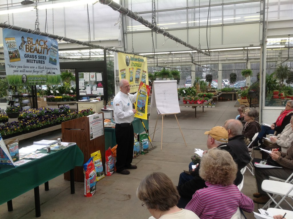 barry green did a lawn care seminar at gales westlake garden center and taught everyone how - Gales Garden Center