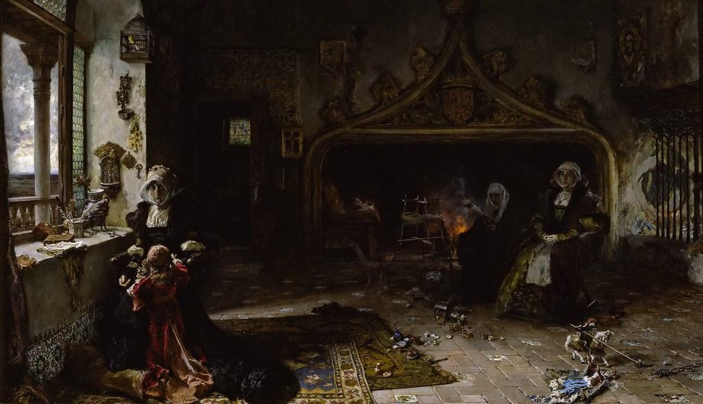 Francisco Pradilla Y Ortiz Queen Juana Confined At Torde Flickr