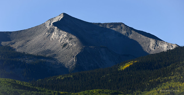 West Beckwith Mountain, West Elk Wilderness, from Kebler Pass