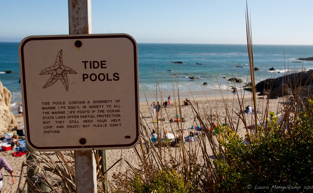 Tide Pools Sign At Leo Carillo State Park Malibu Laura