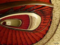 Red carpet stairway