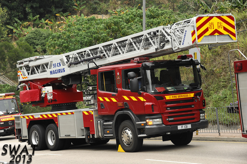 香港消防處 F 131 旋轉台鋼梯車 Hong Kong Fire Services Department