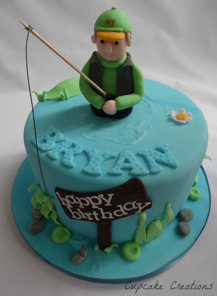 Fishing Theme Birthday Cake So This Is What The Blue