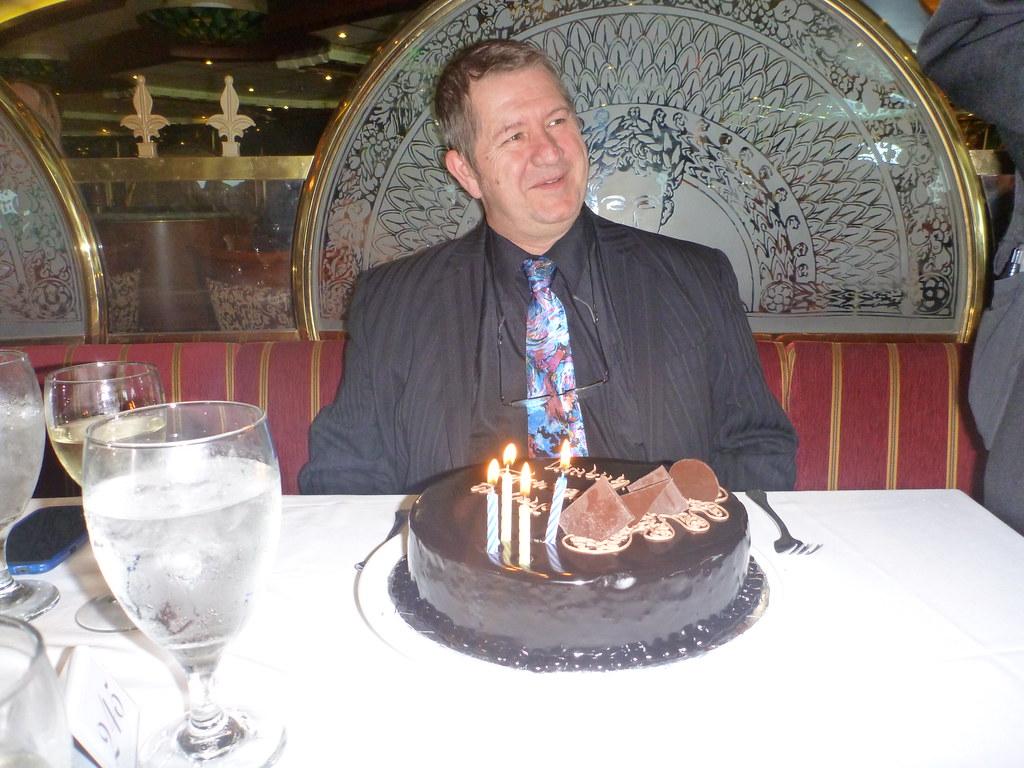 Carnival Spirit Empire Dining Room 55th Birthday Cake For