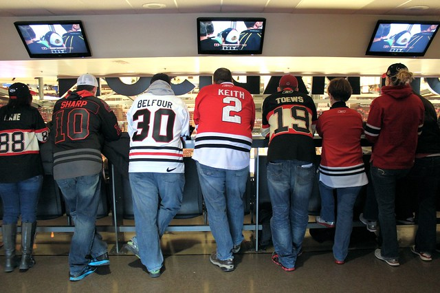 Chicago Blackhawks Standing Room Only Section At United