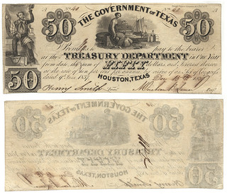 Government of Texas $50.00 (fifty dollars) treasury warrant | by SMU Libraries Digital Collections