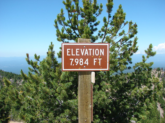 Paulina Peak summit sign