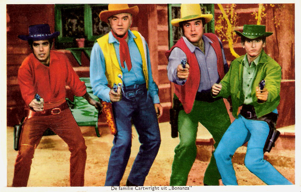 Bonanza dutch postcard the cartwright family were the for Craft shows on tv