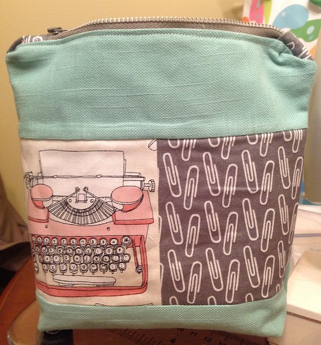 Type/Metro Pouch front | by Crafting Crazy Artist