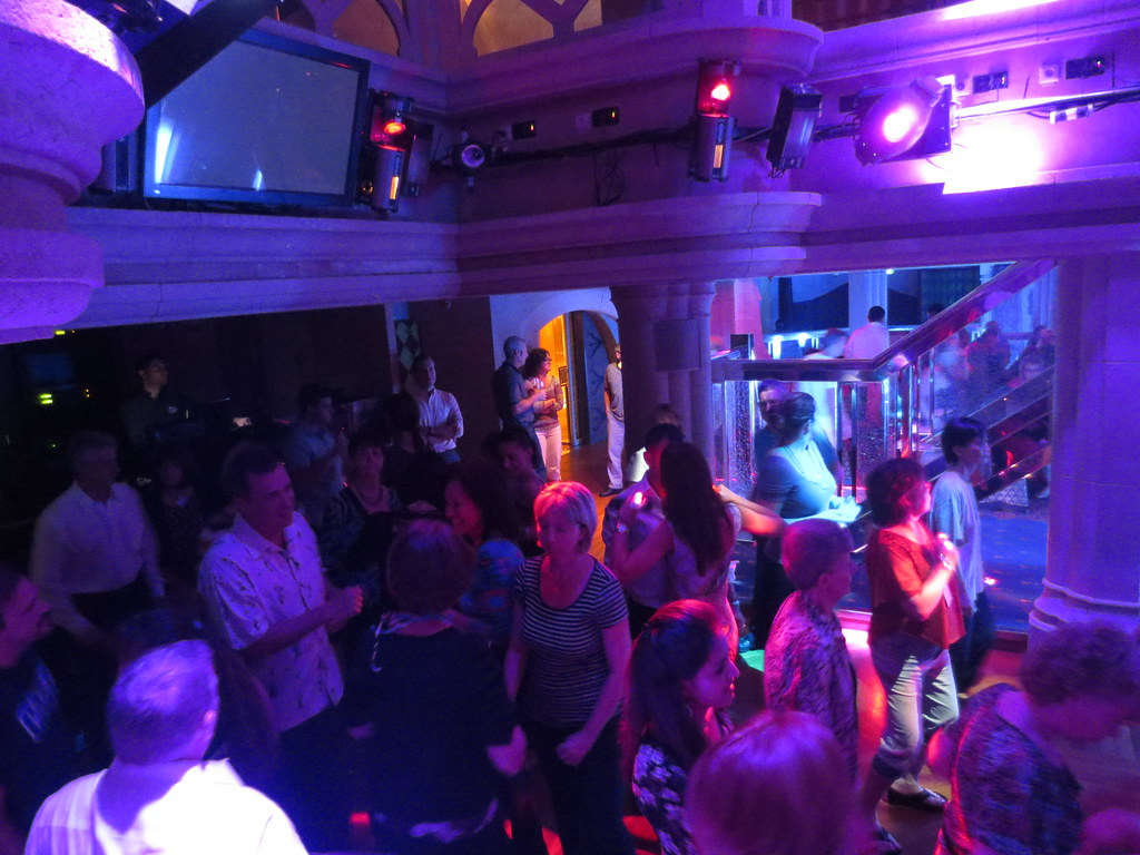 The Chamber nightclub dance floor on the Royal Caribbean I ...