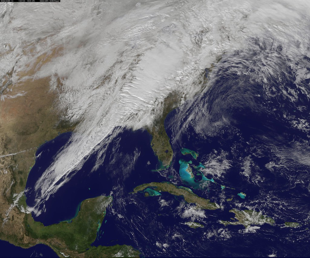 Satellite Image Shows Eastern U S Severe Weather System