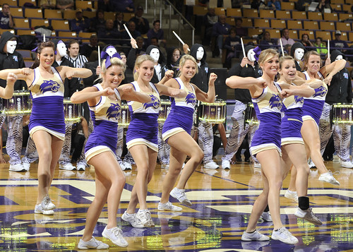 Cheerleaders Cheerleaders Perform With Purple Thunder At