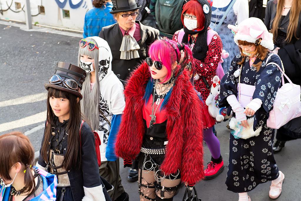 Harajuku Red A Group Of Participants In The 15th Harajuku Flickr