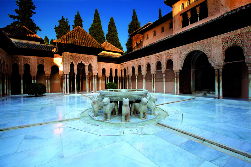 The Fountain of the Lions, Granada, SPAIN