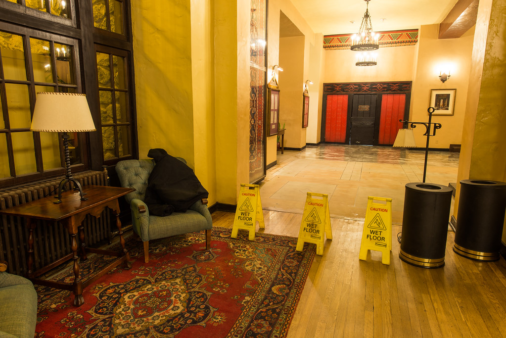 The Overlook Hotel Elevators, Wet Floor (The Ahwahnee Hote… | Flickr