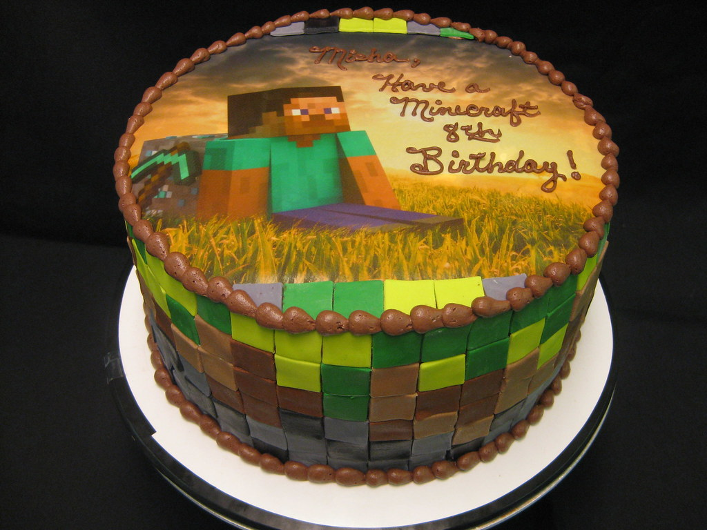 Minecraft Cake   Flickr - Photo Sharing!