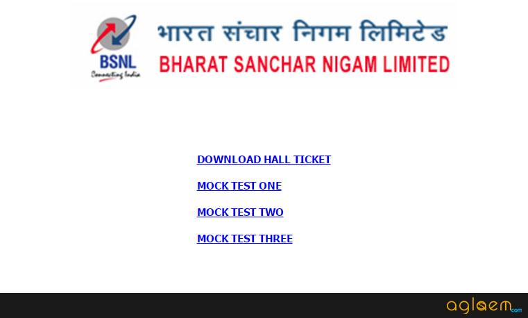 BSNL Admit Card
