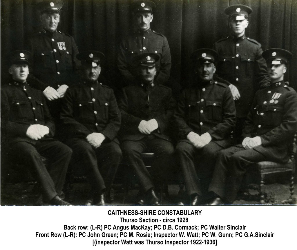 Caithness Shire Constabulary Thurso Section C1928 This