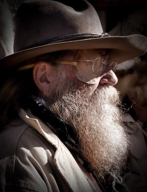 old west beard portrait of a western beard apache