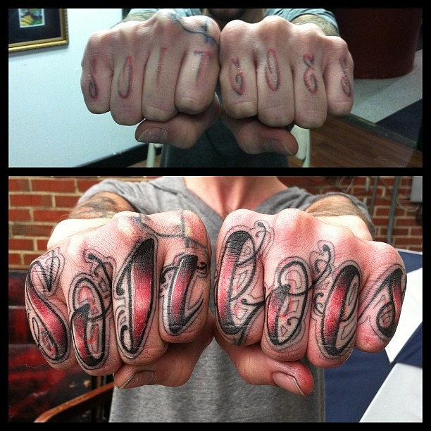 knuckle cover up and yea i did the first set too t
