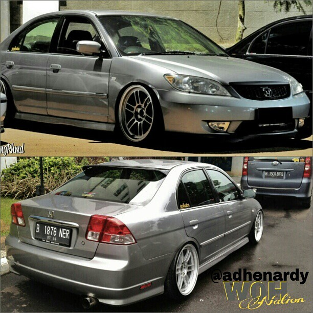 Now thats Clean! @adhenardy #honda #grey #civic #vtis #7th… | Flickr