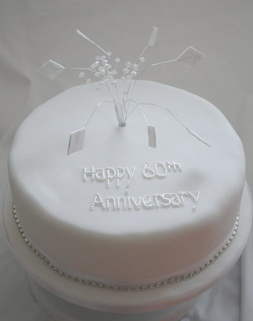 Cake Decorations For Diamond Wedding Anniversary : Diamond Wedding Anniversary Cake Flickr - Photo Sharing!