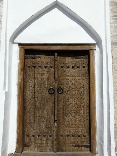 Puerta en Khiva (Ubzekistán)