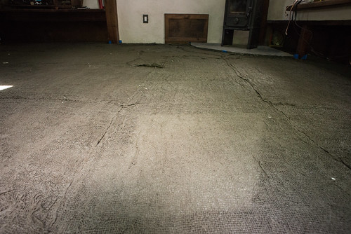 Slip-Soaked Burlap Between Earthen Floor Layers One and Two | by goingslowly