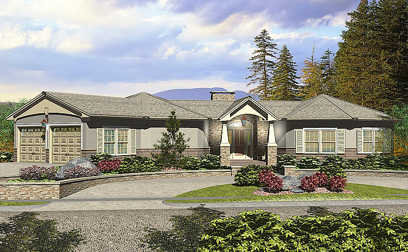 Traditional craftsman style prefab home plan 3 bedroom for Craftsman style prefab homes