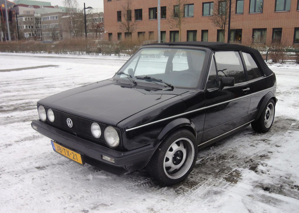 vw golf 1 cabrio 1 6 gti 5 7 1983 jb tx 21 import in nl. Black Bedroom Furniture Sets. Home Design Ideas