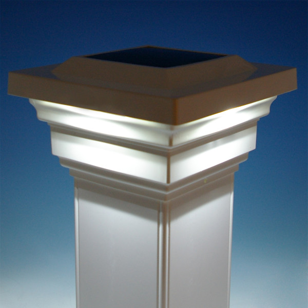 regal solar post cap light by classy caps complement your