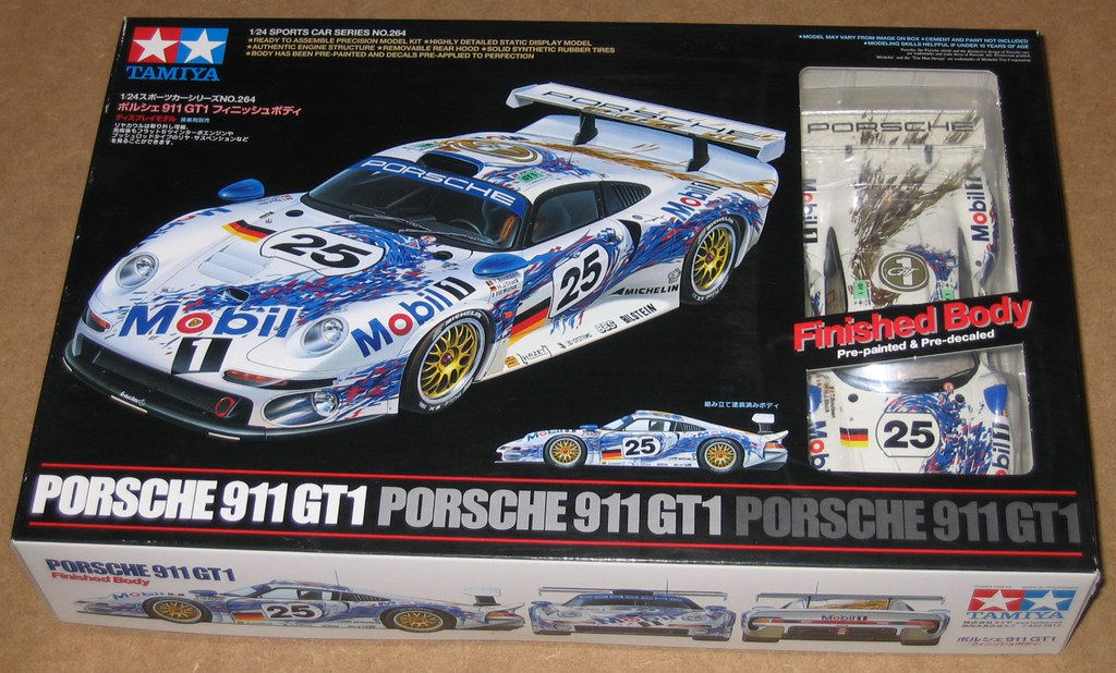 porsche 911 gt1 1996 lemans finished body tamiya 950344 24 flickr. Black Bedroom Furniture Sets. Home Design Ideas