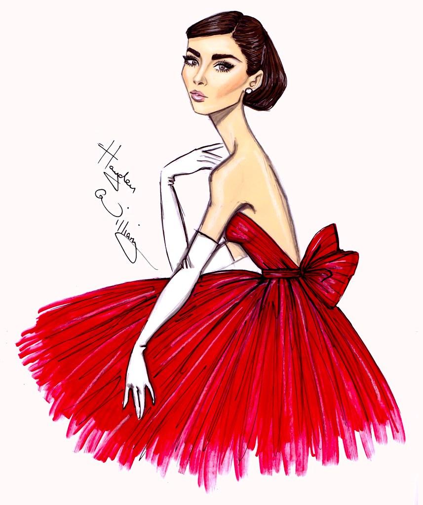 audrey  u2018little red dress u2019 by hayden williams