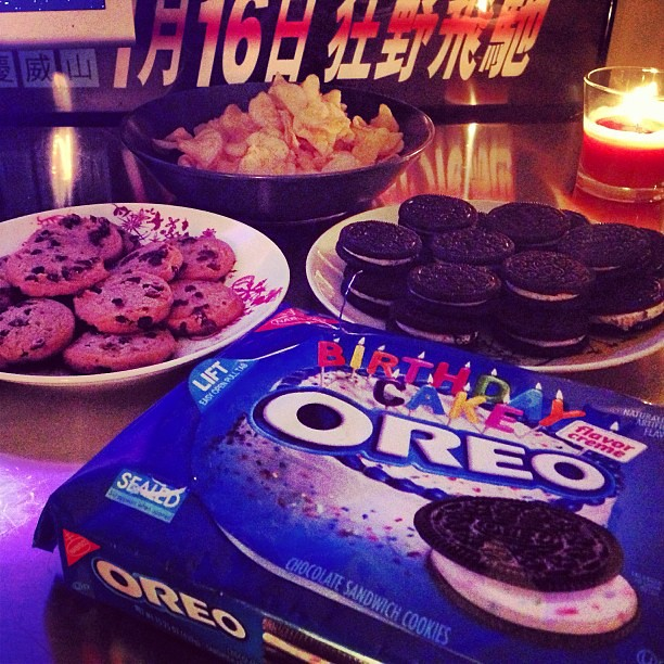 Pleasing Birthday Cake Oreos Check Chewy Chips Ahoy Hot Out Of Th Flickr Funny Birthday Cards Online Fluifree Goldxyz