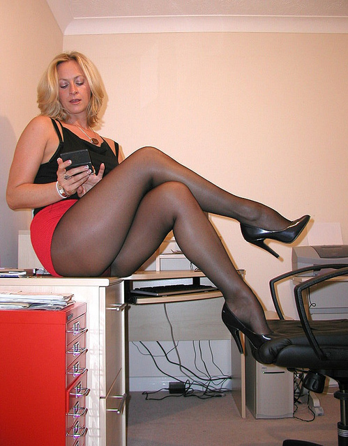 Secretary office milf slut