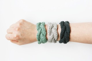 cable knit bracelets | by knittinging
