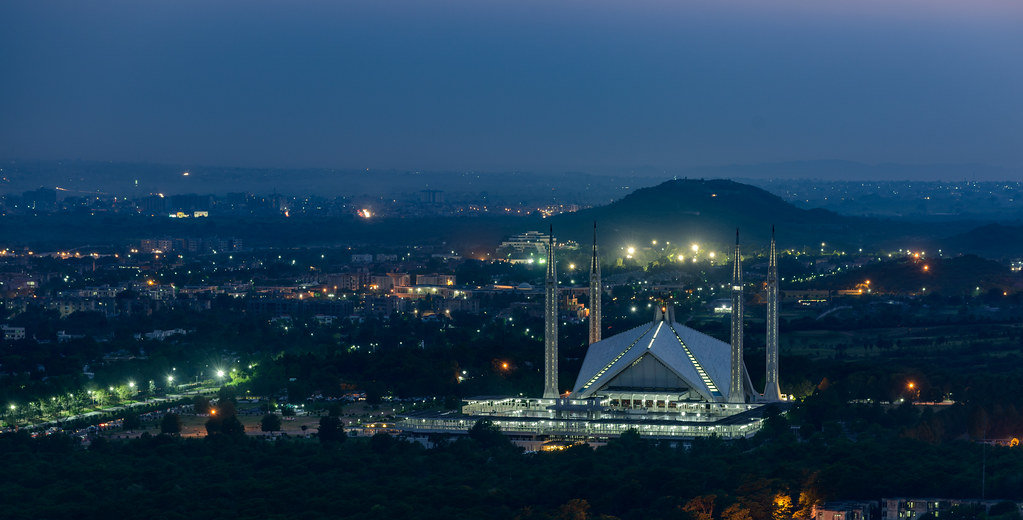 Shah Faisal Mosque at Blue Hour, Islamabad. Pakistan