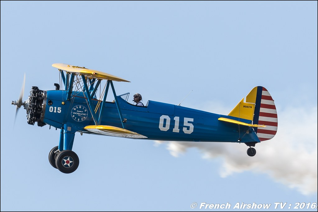 Stearman , F-AZUD , Stearman Roanne , N56178 , dodane 1857 ,22 ème meeting aérien international de Roanne , Meeting Aerien Roanne 2016, ICAR Manifestations
