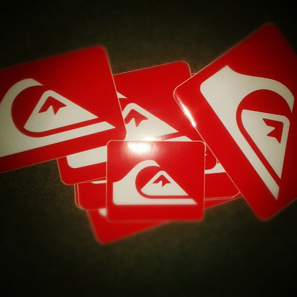 Thanks to Francesca for my.new @Quiksilver stickers! Going ...
