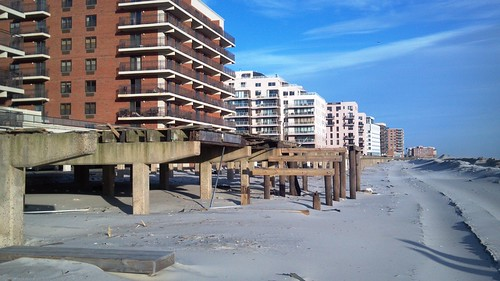 Destroyed boardwalk, Long Beach NY | by Ron Coleman