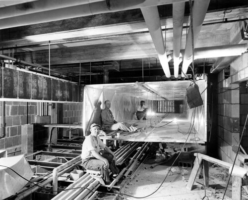 Workers inside Ductwork during the Renovation of the White House, 07/19/1951 | by The U.S. National Archives