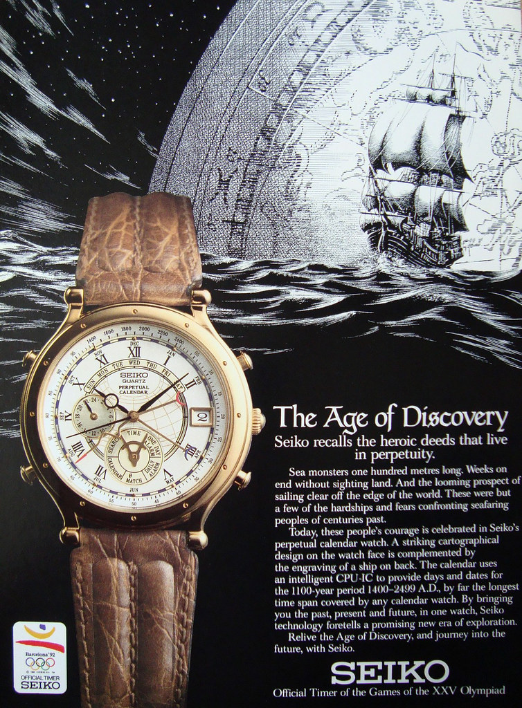 Weekly Calendar Quartz : Seiko age of discovery perpetual calendar features the