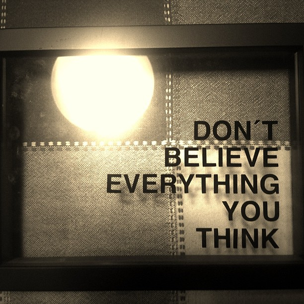 Dont Believe Everything You Think Quote Maritabtab Flickr