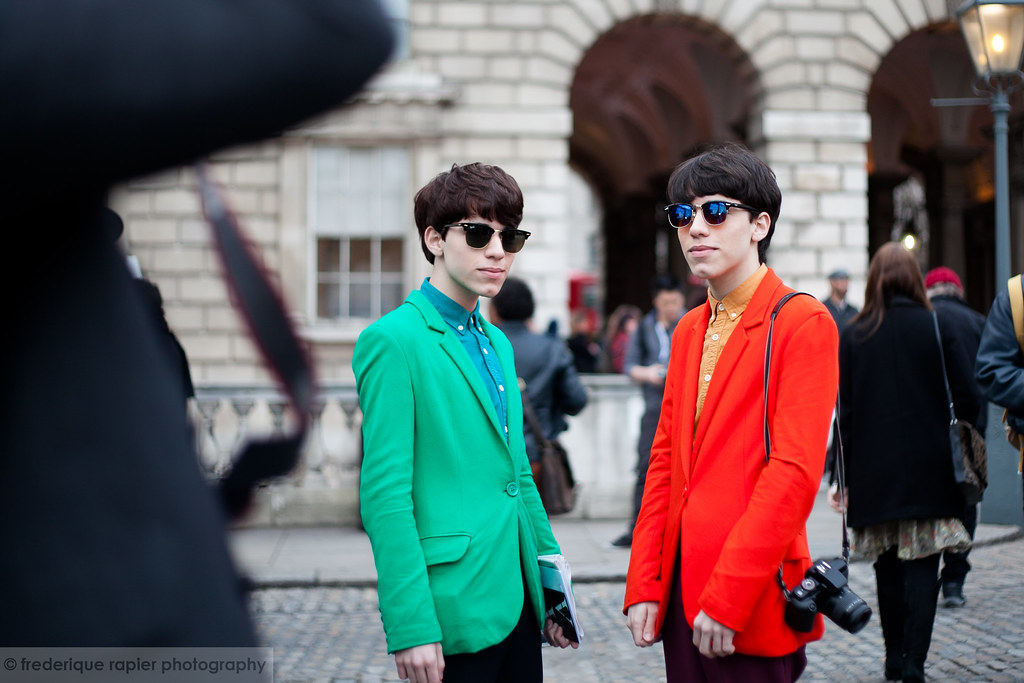 Street Style At London Fashion Week A W 2013 Green Light Flickr