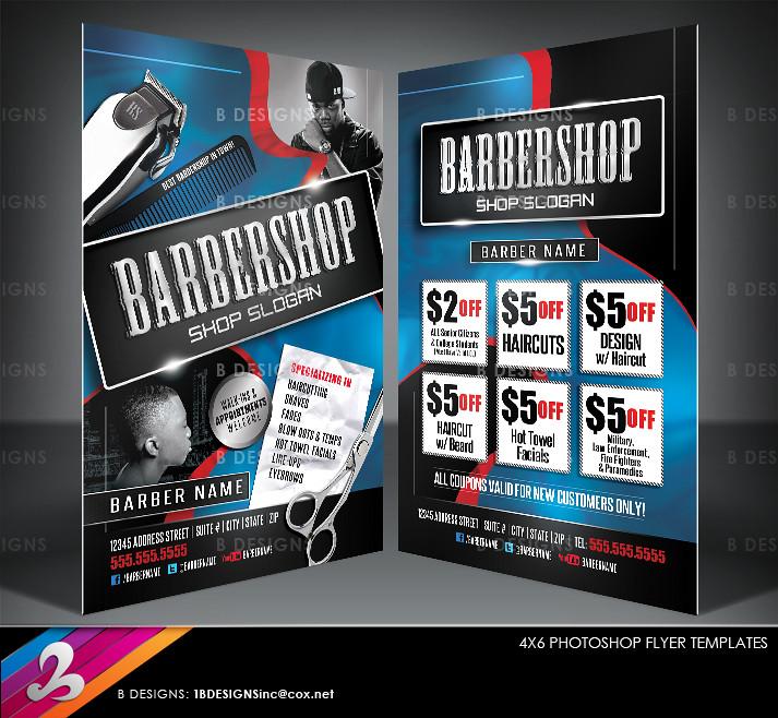 barbershop flyer templates 1 by b designs inc