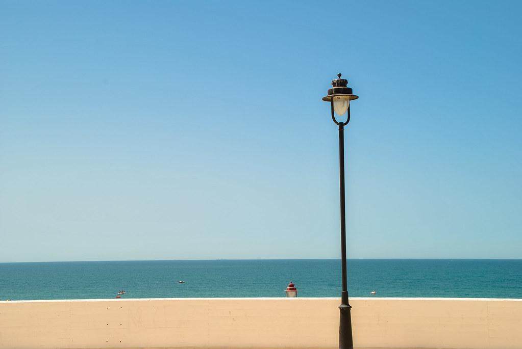 Minimalist Beach Sea And Lamp Javier Albusac Flickr