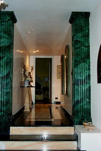 8anticamera in stucco veneziano e finto marmo verde nero s - Marmo veneziano ...